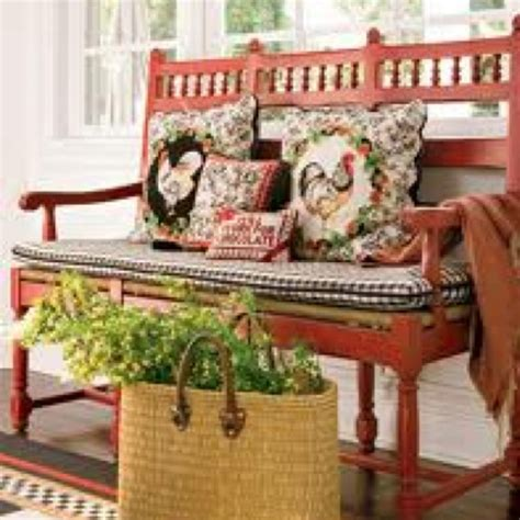 the red bench country french red bench country red barn house pinterest