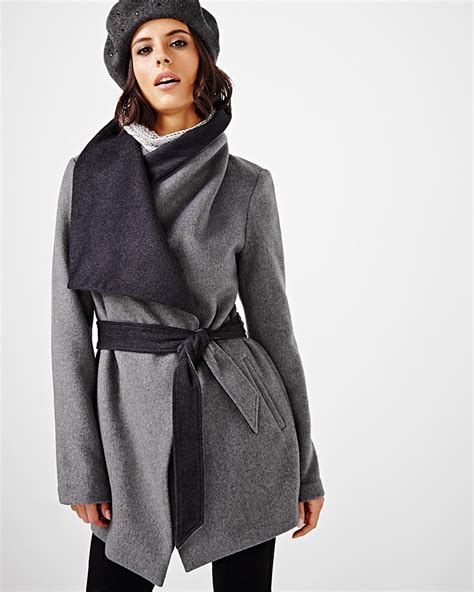 Wool Blend Wrap Coat wool blend wrap coat rw co