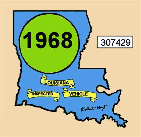 Louisiana Inspection Sticker 2 Years