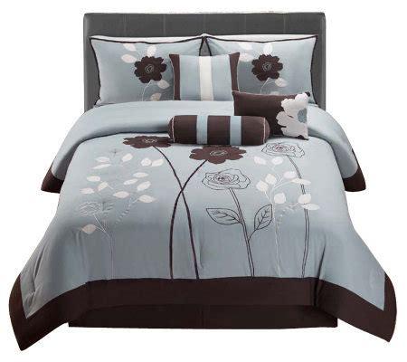 qvc bedding victoria classics adrienne 7 piece queen comforter set