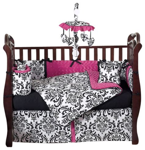 Pink And Black Crib Bedding Sets 9 Baby Crib Bedding Set By Sweet Jojo Designs Traditional Bedding