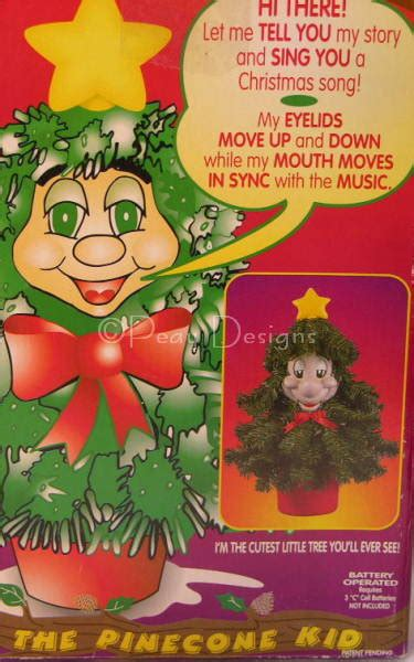 vintage 1997 telco pinecone kid talking singing tree