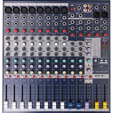 Mixer Soundcraft Efx8 Soundcraft Efx 8 Channel Mixer Soundselect