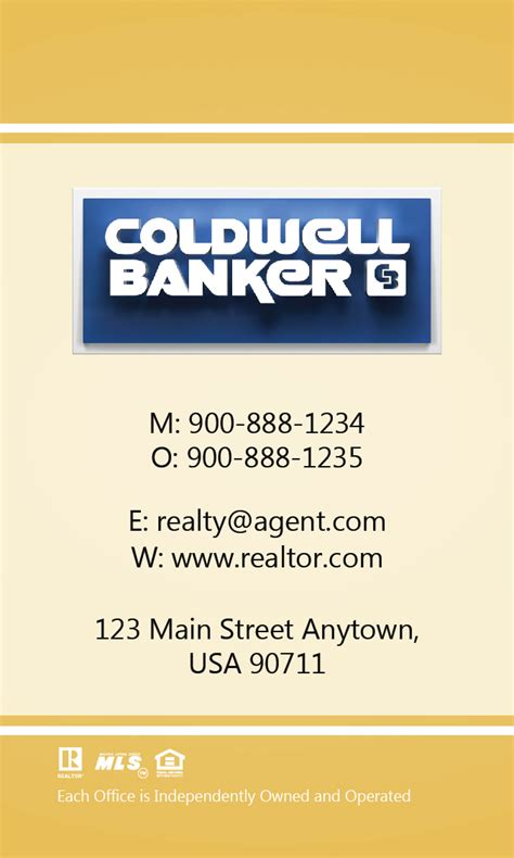 coldwell banker template for business cards coldwell banker business card vertical design 104464