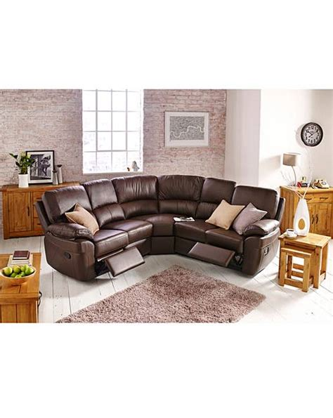 milan leather corner sofa milan leather recliner corner j d williams