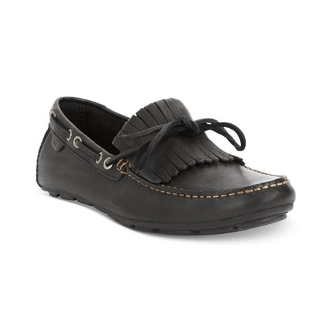black sperry loafers sperry top sider wave driver kiltie loafers in black for