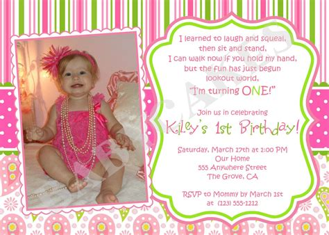 1st year birthday invitation wording birthday invitation wording ideas for the house