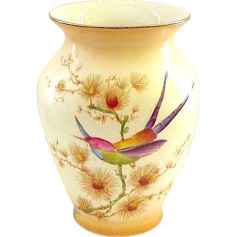 Crown Ducal Vase by Crown Ducal Bird Of Paradise Handpainted Vase With