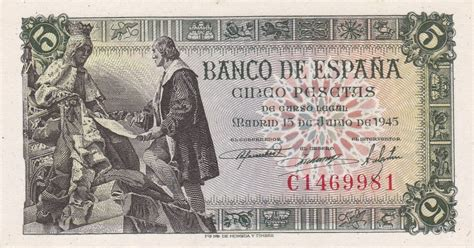 notes on spain and the spaniards in the summer of 1859 with a glance at sardinia classic reprint books spain 5 pesetas banknote 1945 world banknotes coins