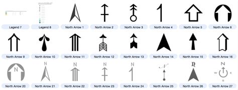 qgis layout north arrow north arrows compass rose editable symbols for map