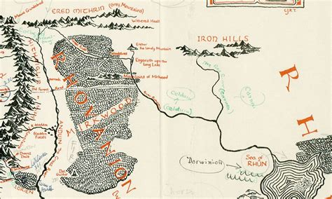 map of middle earth tolkien tolkien s annotated map of middle earth boing boing