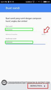 buat akun google otomatis daftar akun google buat email baru lewat hp contoh