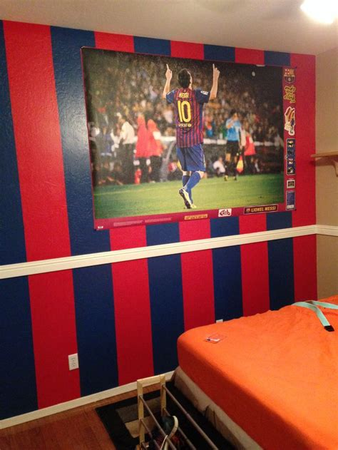 soccer bedroom barcelona soccer painted wall for my son leomessi10 leo