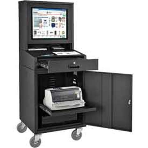 mobile security computer cabinets lcd enclosures at