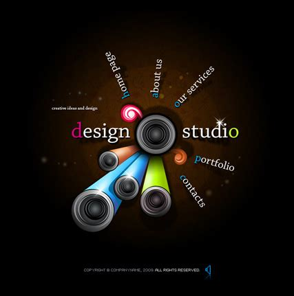 design studio flash website template best website templates