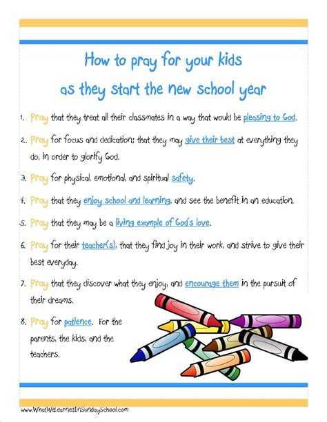 prayers for children at school images