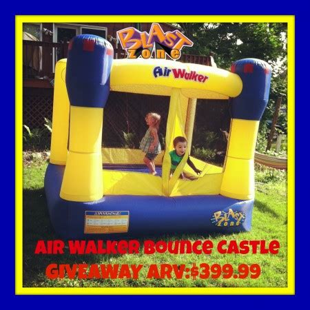 finds bounce books blast zone air walker bounce castle giveaway