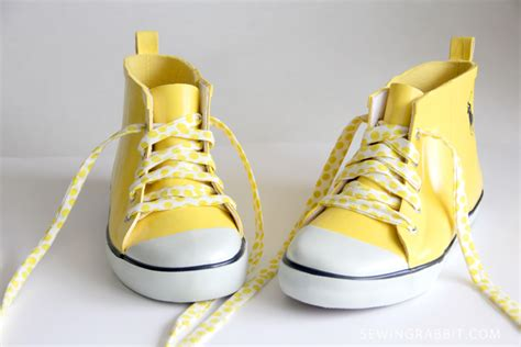 diy shoe laces fabric shoelace diy the sewing rabbit