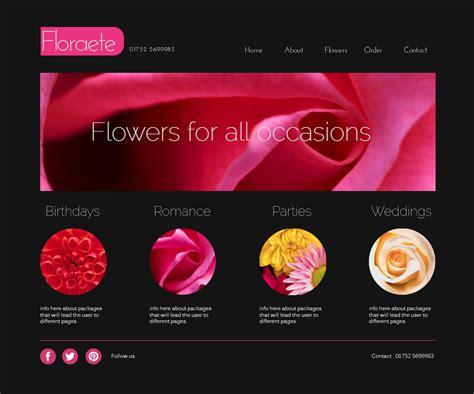 Flower Website Template Design Louis Dyer Digital Visionary Artist Flower Website Templates