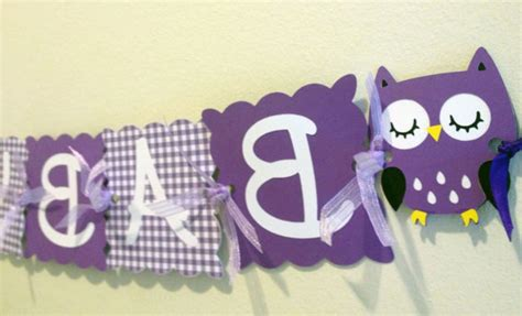 Purple Owl Baby Shower Decorations by The Grace Purple Baby Shower Decorations Liviroom Decors