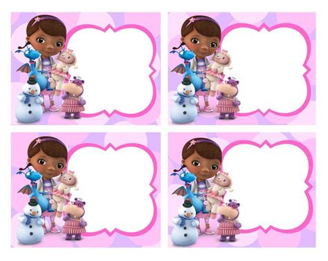 doc mcstuffins birthday card template 430 best images about printable templates on