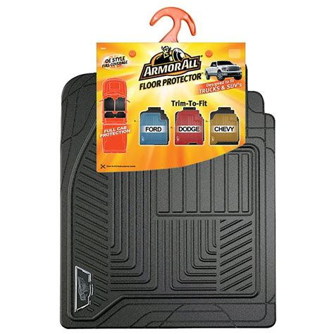 armor all black coverage rubber truck floor mat 78990