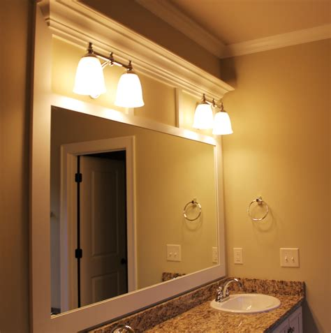Custom Mirrors For Bathrooms Custom Framed Bathroom Mirror Framing Bathroom Mirrors Pinterest
