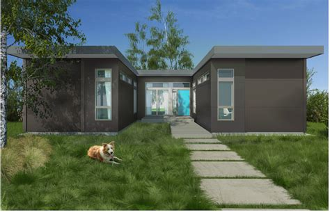 leed platinum sustainable prefab home modern prefab