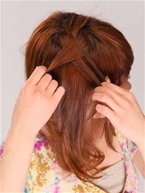 tutorial menguncir rambut pendek sebahu cara mengikat rambut pendek sebahu praktis cara wanita