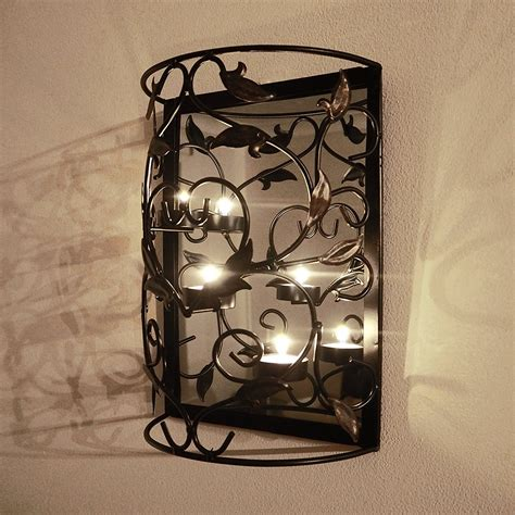 wall sconces into the glass beautiful wall hanging - Wall Hanging Candles