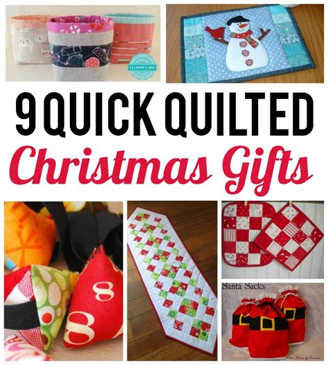 9 quick quilted gifts to make in a flash
