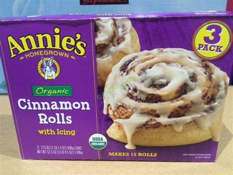 costco buns s organic cinnamon rolls with icing 3 17 5 ounce costcochaser