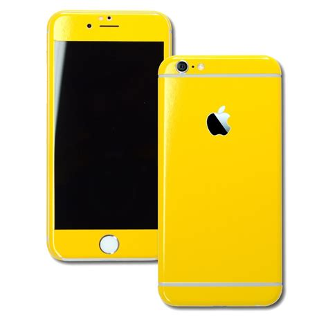 iphone 6s plus glossy golden yellow skin wrap decal easyskinz
