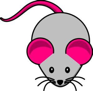 grey pink mouse clip art clker vector clip art