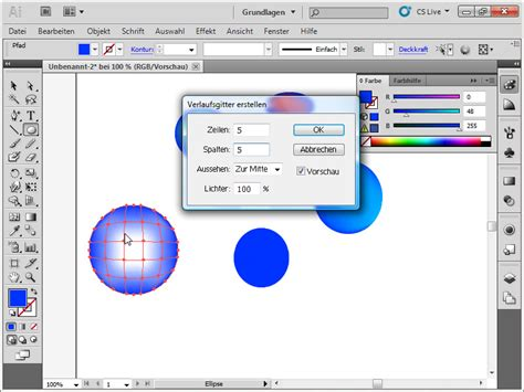 gitter werkzeug illustrator illustrator verlaufsgitter farbverlauf illustrator