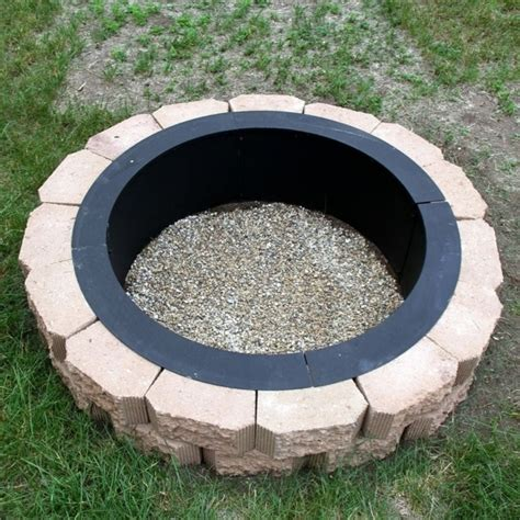Above Ground Fire Pit Fire Pit Ideas In Ground Firepit