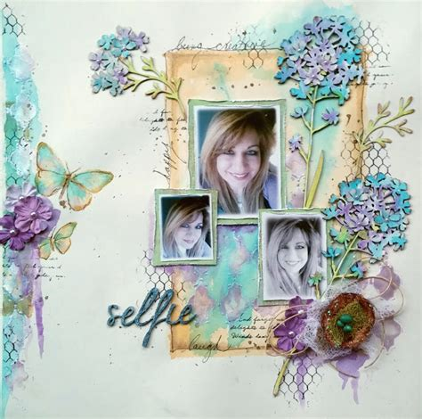 tutorial layout scrapbook such a pretty mess watercolor style layout video