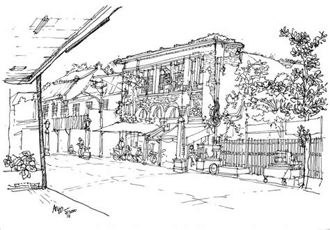 sketchers indonesia eksotika kawasan kota lama jalan kepodang semarang