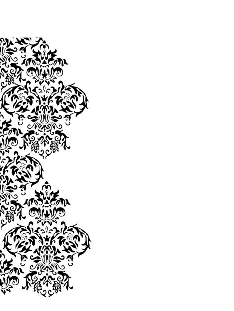 6 best images of printable damask borders for invitations damask swirl free images at clker com vector clip art