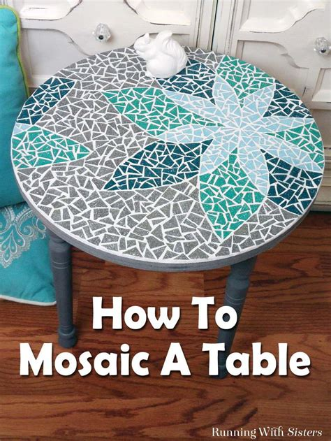 diy designs how to mosaic a table grout mosaics and template