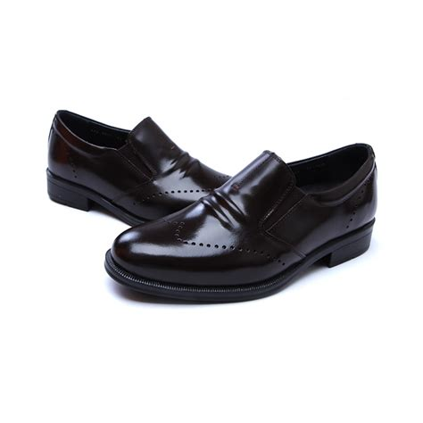 comfortable loafers mens mens real leather comfortable cusion insole brown loafers