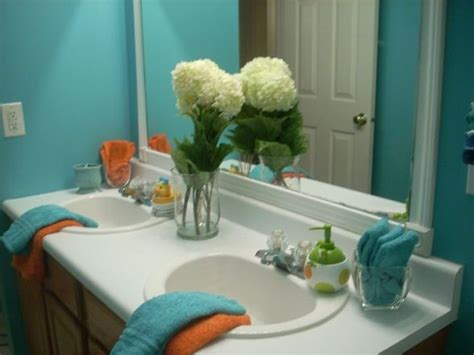 teal bathrooms teal and orange bathroom home decorating ideas pinterest