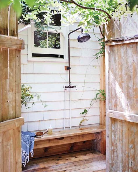 outdoor shower bench cool outdoor shower ideas for the hot summer ahead