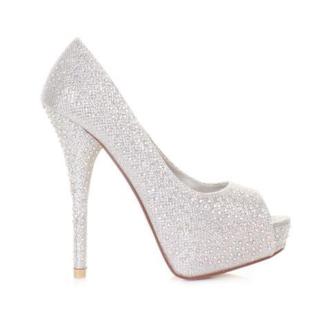 high heels with diamonds silver high heel shoes is heel