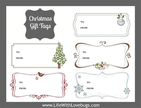 Printable Gift Tags Avery | avery christmas templates 5163 myideasbedroom com