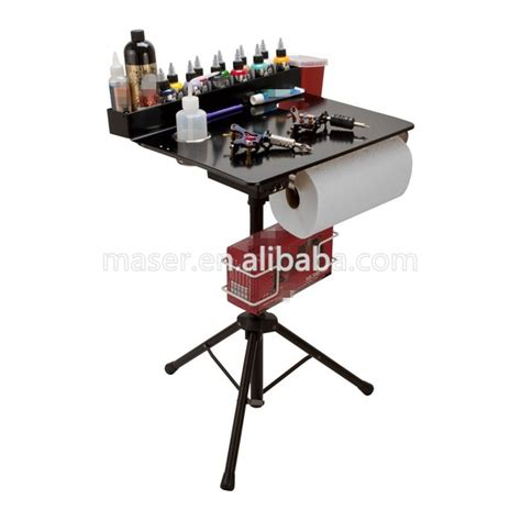 tattoo ink stand portable stainless steel makeup working table stand