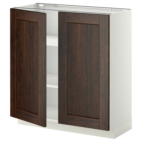 Base Cabinet Doors by Metod Base Cabinet With Shelves 2 Doors White Edserum