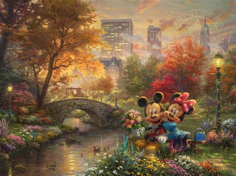 homeade lifesize thinas kinkade christmas tree mickey and minnie sweetheart central park limited edition kinkade galleries of