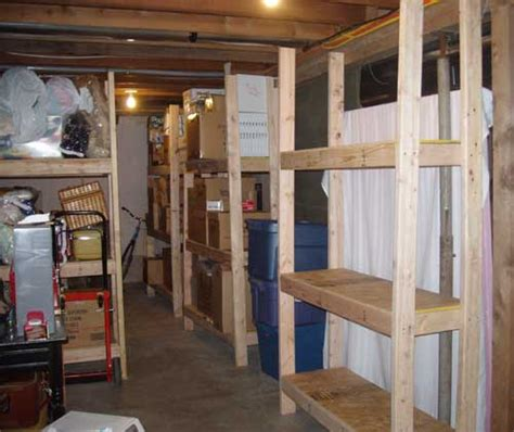 cheap easy  build storage shelves