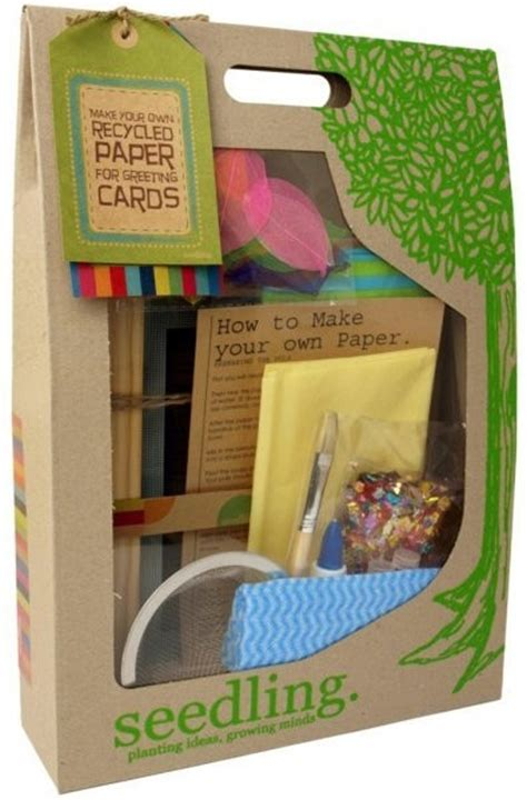 Paper Kit For - seedling make your own recycled paper for greeting cards